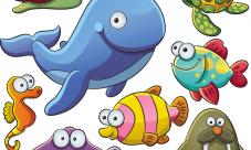Dibujos de peces en el mar