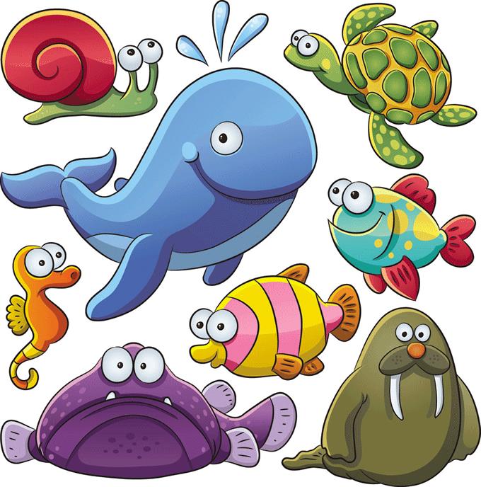 Dibujos de peces en el mar reino animal for Variedad de peces