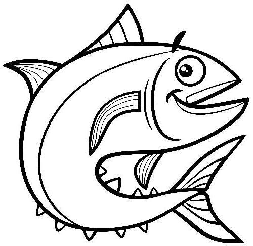 Dibujos de peces para colorear
