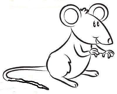 Dibujos de ratones para colorear y dibujar